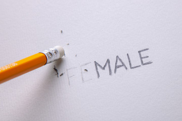 Transgender is man or woman. Word female consists of the word male