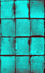 turquoise color bricks