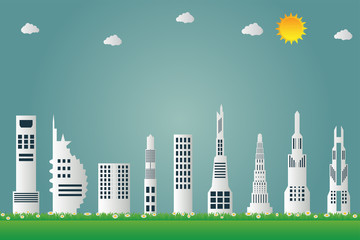Building cityscape of the city beautiful,vector illustration