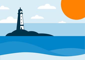 Lighthouse Sea Landscape
