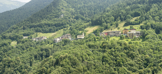 small mountain village, Azzone di Scalve, Italy