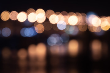 background. defocusing. night, multicolored lights on the bridge \ new year \ christmas.