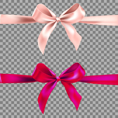 Two decorative ribbons