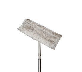 Flat mop with dust and hair on top