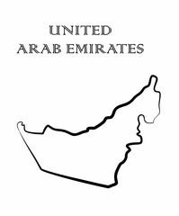 the United Arab Emirates map