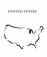the United States map