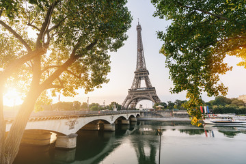 Eiffel tower at sunset, Paris. France