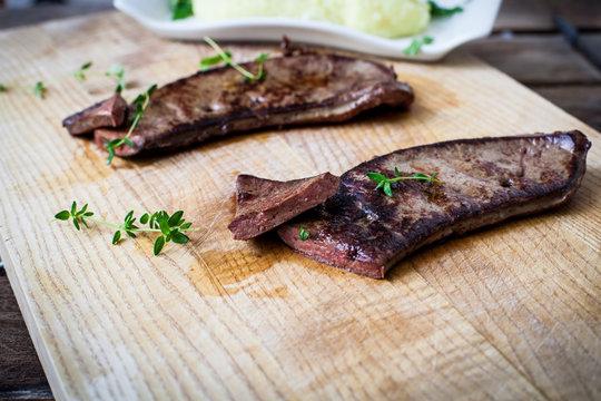 Fresh veal liver