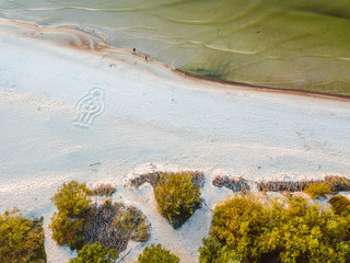Drone aerial view of Palanga beach, Lithuania.