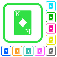 King of diamonds card vivid colored flat icons