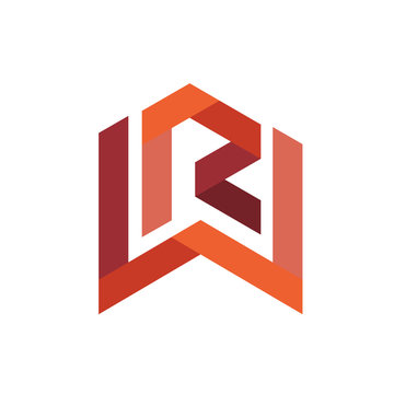 Letter R W logo