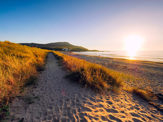 sunset of donegal beach,Ireland