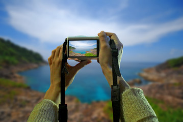 take photo seascape,Photography sea.