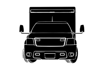 silhouette of ambulance car vector