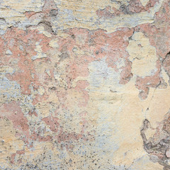 Wall Murals Old dirty textured wall Old Wall With Peel Grey Stucco Texture. Retro Vintage Worn Wall Background. Decayed Cracked Rough Abstract Wall Surface.