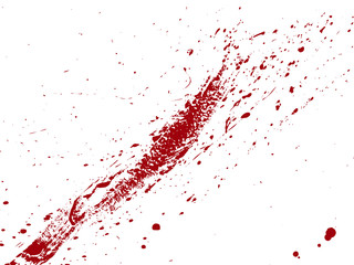 Papiers peints Vin Blood drops and splatters on white background. Vector illustration