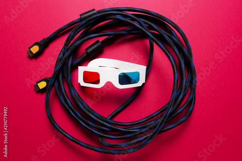 Admirable Movies Concept Hdmi Cable And Paper 3D Glasses Watch The Movie In Wiring Digital Resources Otenewoestevosnl