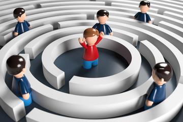 3D Männchen Labyrinth Problemlösung