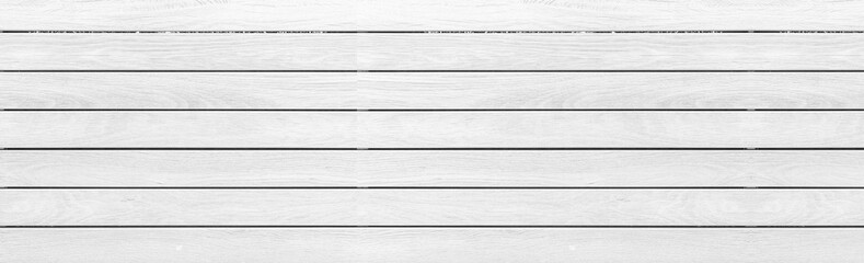 Panorama od vintage white wood texture and background seamless