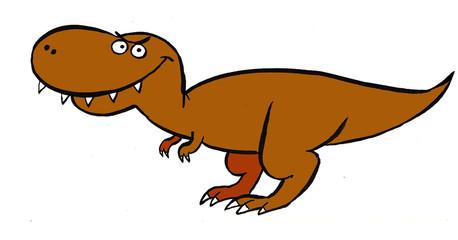 Funny illustration of a carnivorous dinosaur