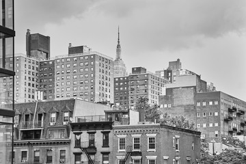View of the New York cityscape from the High Line Park, USA.