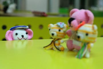 crochet yarn doll family