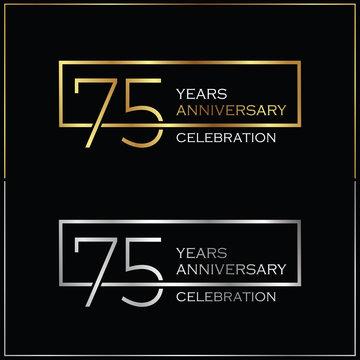 75th years anniversary celebration background