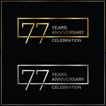77th years anniversary celebration background