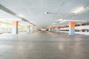 Empty parking lot in Underground parking.
