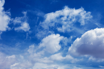 clear blue sky and white clouds on day time background