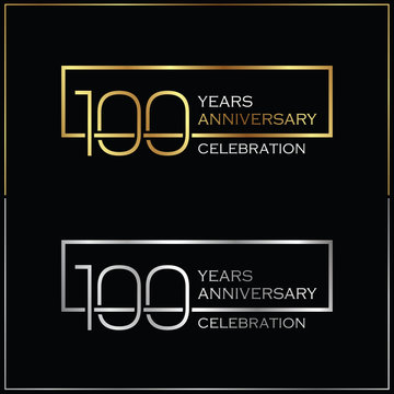 100th years anniversary celebration background