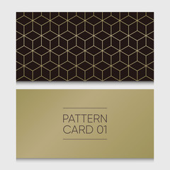Pattern card 01. Background vector design element.