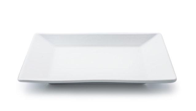 White empty square plate