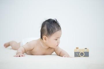 赤ちゃんとカメラ