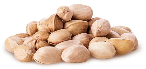 a heap of pistachios