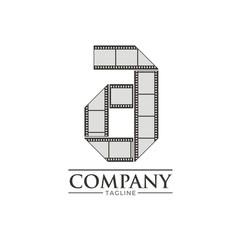 Letter A Filmstripe Logo