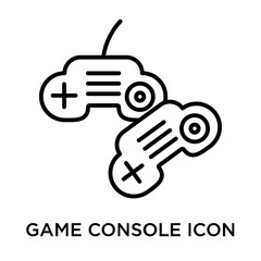 Game console icon vector sign and symbol isolated on white background, Game console logo concept