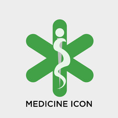Medicine icon vector sign and symbol isolated on white background, Medicine logo concept