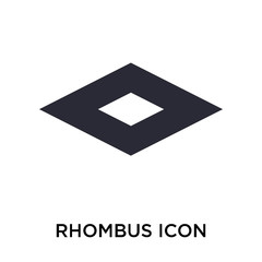 Rhombus icon vector sign and symbol isolated on white background, Rhombus logo concept
