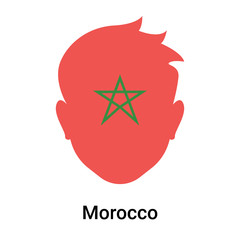 Morocco icon vector sign and symbol isolated on white background, Morocco logo concept