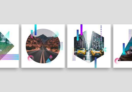 Social Media Photo Masks with Gradient Elements