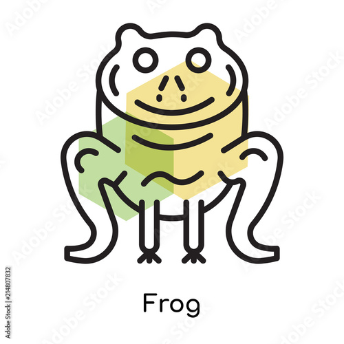 Frog icon vector sign and symbol isolated on white background, Frog