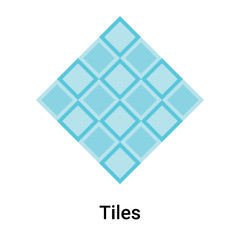 Tiles icon vector sign and symbol isolated on white background, Tiles logo concept