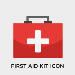 First aid kit icon vector sign and symbol isolated on white background, First aid kit logo concept