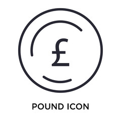 Pound icon vector sign and symbol isolated on white background, Pound logo concept