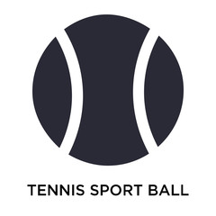 Tennis Sport ball icon vector sign and symbol isolated on white background, Tennis Sport ball logo concept