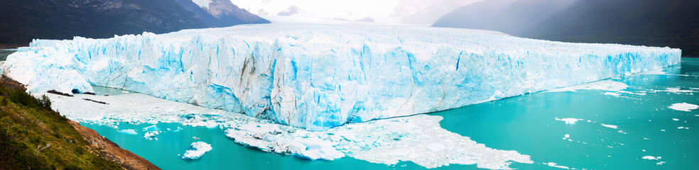Panorama of glacier Perito Moreno, southeast of Argentina