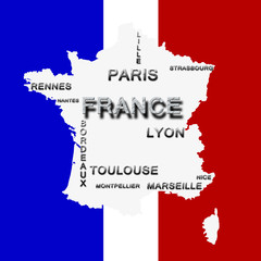 Carte de France - Top 10 - Sans Contour