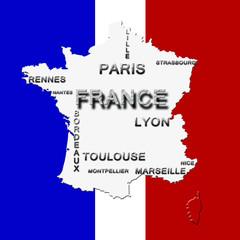 Carte de France - Top 10 - Avec Contour