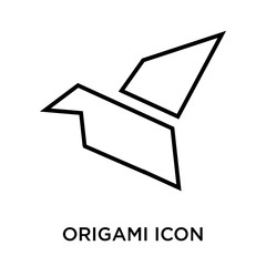 Origami icon vector sign and symbol isolated on white background, Origami logo concept